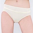 思薇爾 牛奶紗系列M-XXL素面中腰三角內褲(清澈黃)