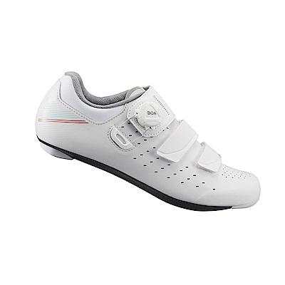 【SHIMANO】RP400 女性公路車性能型車鞋 白色