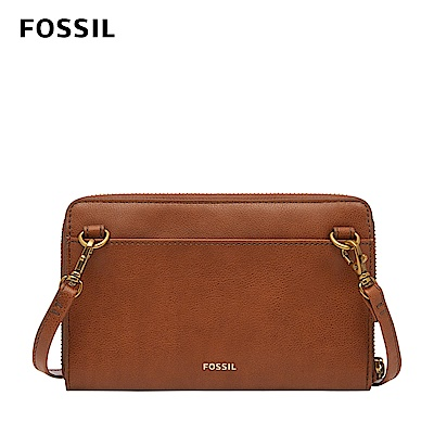 FOSSIL Faye 可斜背式長夾小包WOC-咖啡色 SWL2572213