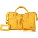 BALENCIAGA Classic Gold City 黃色羊皮金釦機車包(展示品) product thumbnail 1
