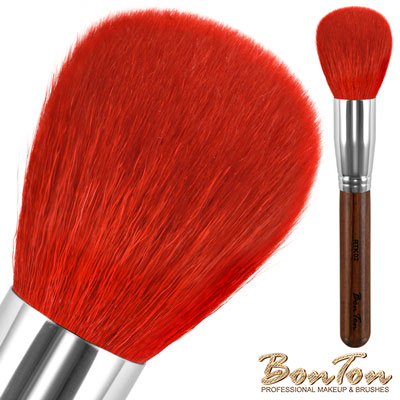BonTon 原木系列 圓形蜜粉/粉餅刷 RTK02 特級尖鋒羊毛