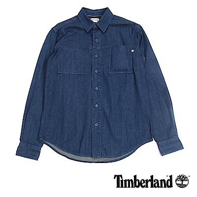 Timberland 男款深藍色River牛仔襯衫