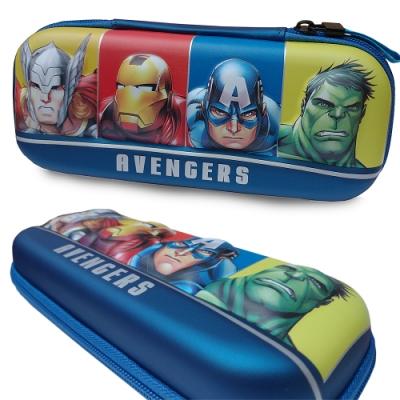 迪士尼漫威復仇者聯盟超級英雄3D立體筆袋 藍色