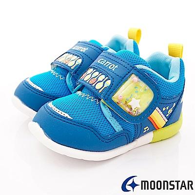 日本Carrot機能童鞋 3E寬楦玩耍款 ON075藍(寶寶段)