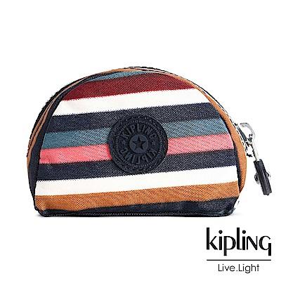 Kipling 零錢包 彩色拼接條紋-小