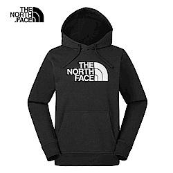 The North Face北面男女款黑色休閒舒適連帽T恤|3VQWJK3