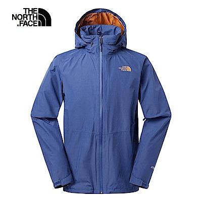 The North Face北面男款藍色防風防水衝鋒衣 2VECHDC