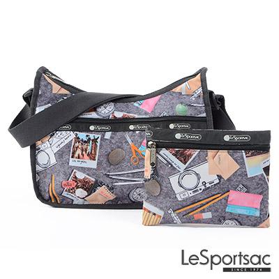 LeSportsac - Standard側背水餃包-附化妝包 (旅行的意義)
