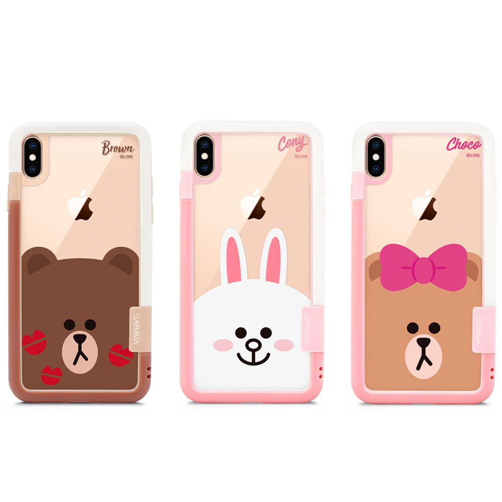 GARMMA LINE FRIENDS iPhone Xs Max 邊框背貼套組 product image 1