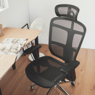 Home Feeling 高背附頭枕鐵腳電腦椅/辦公椅/主管椅(2色)