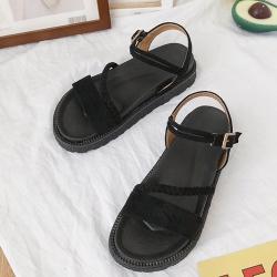 KEITH-WILL時尚鞋館 破盤價簡約俐落休閒涼鞋-黑
