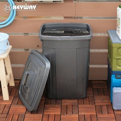 創意達人KEYWAY銀采方形萬用桶/儲水桶/垃圾桶95L-1入組