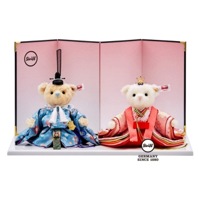 STEIFF德國金耳釦泰迪熊  Hina Teddy Bear Cherry Blossom 2020  (海外限量版)