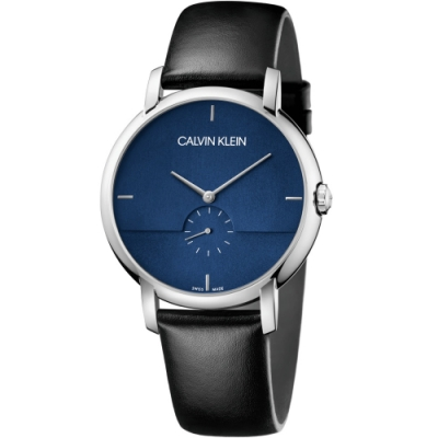 Calvin Klein Established小秒針時尚錶(K9H2X1CN)43mm