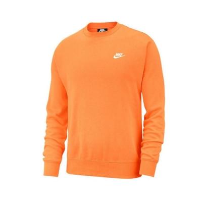 Nike T恤 NSW Club Fleece 男款 大學T 基本款 休閒 圓領 百搭 橘 白 BV2663837