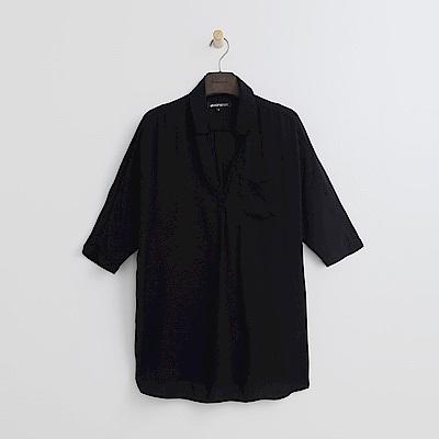 Hang Ten - 女裝 - 立領簡約襯衫-黑色