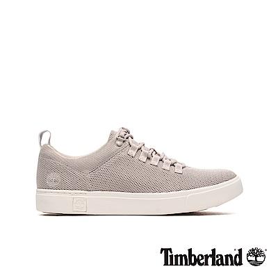 Timberland 男款淺灰針織牛津休閒鞋|A1ZS5