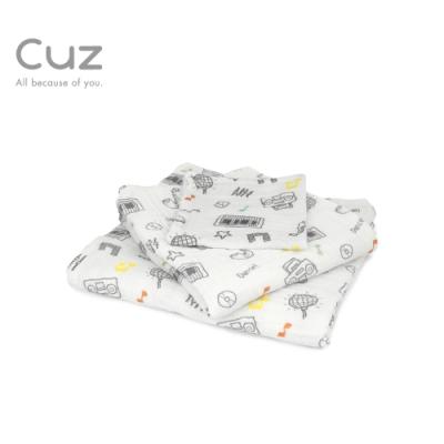 【Cuz】絕對迪斯可(紗布巾/方巾/嬰兒包巾)-115cm