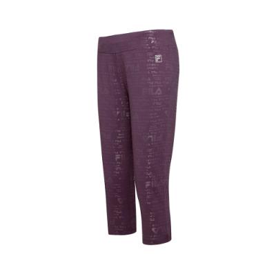 FILA 女萊卡針織七分褲-紫色 5PNT-5604-PL
