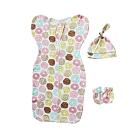 Kori Deer 可莉鹿 純棉懶人嬰兒蝴蝶型包巾/連身睡衣套裝 0-5個月