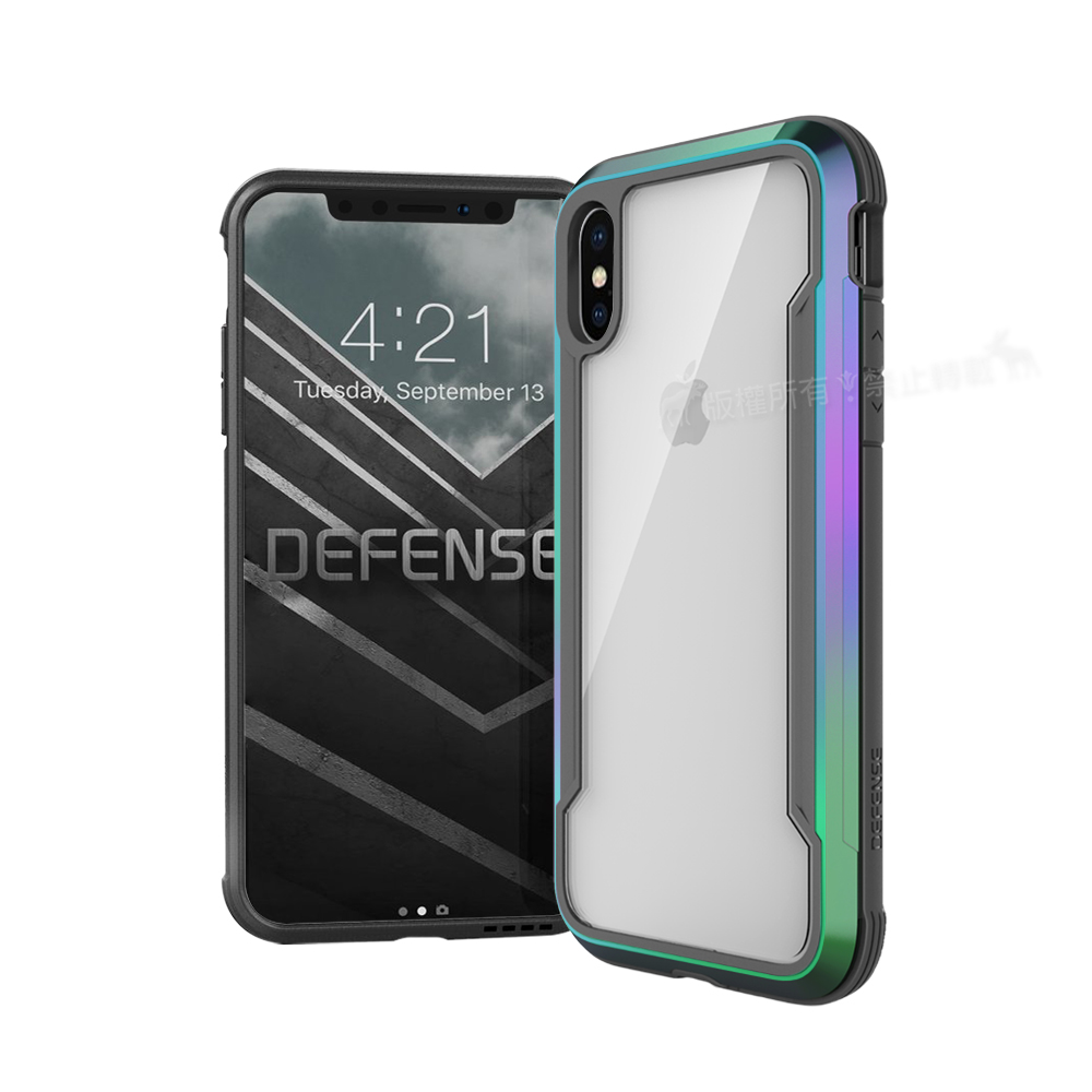 DEFENSE 刀鋒極盾Ⅲ iPhone XS Max 6.5吋 耐撞擊手機殼(繽紛虹)