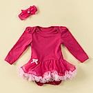 日安朵朵 女嬰雪紡蓬蓬裙連身衣 – 桃紅芭比(長袖)