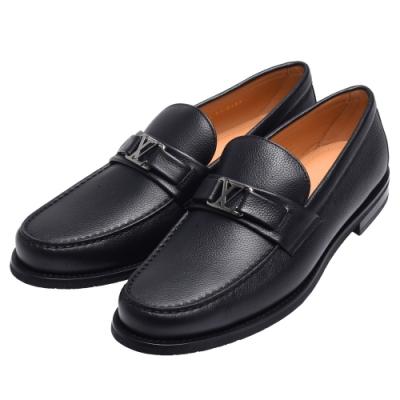 LV 1A5ACR經典MAJOR系列粒面小牛皮便鞋