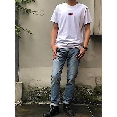Levis 男款 511 低腰修身窄管牛仔褲 淺藍刷白 彈性布料