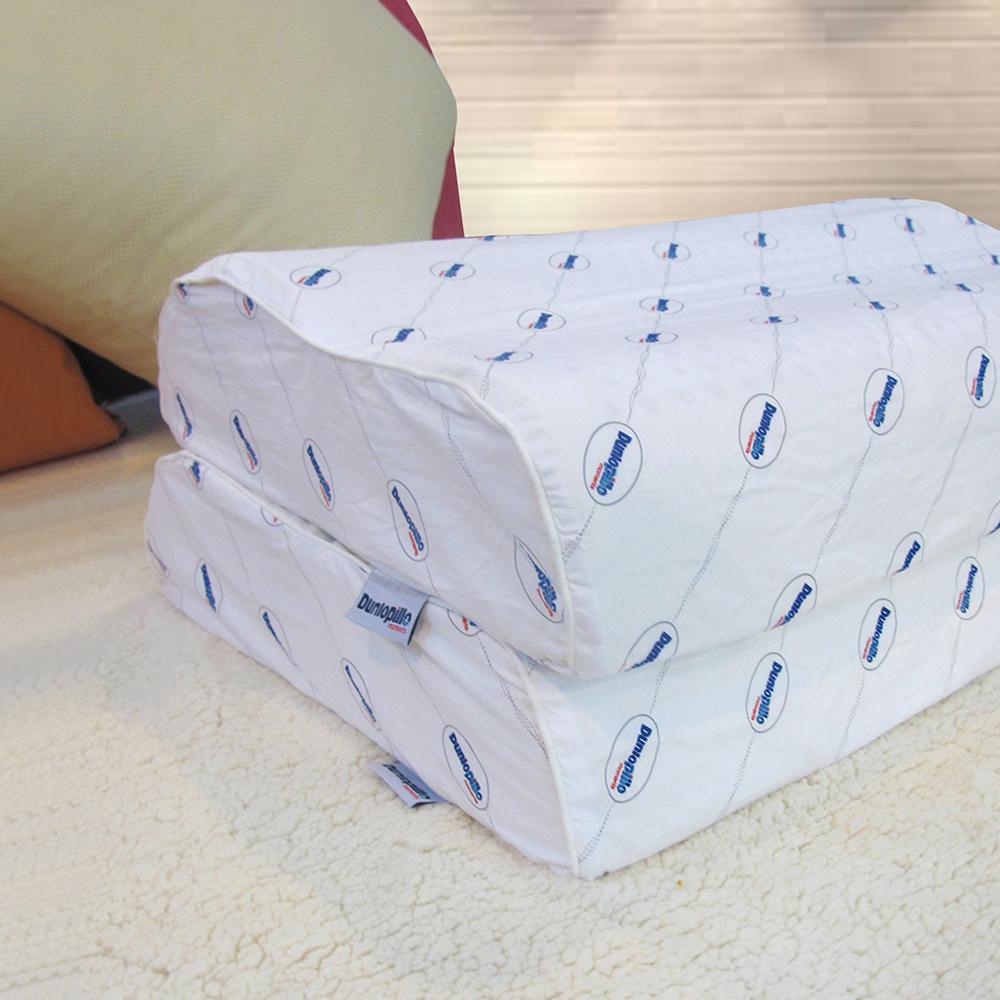 英國百年品牌Dunlopillo人體工學防蹣乳膠枕-二入