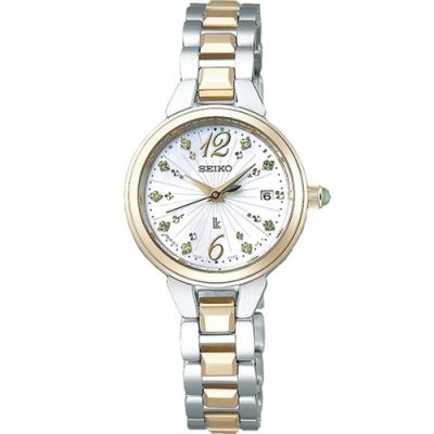 SEIKO精工LUKIA 珍珠母貝太陽能電波腕錶(SSVW156J/1B22-0CS0G)