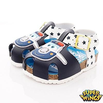 SUPER WINGS 護趾涼鞋款 NI3804深藍(中小童段)