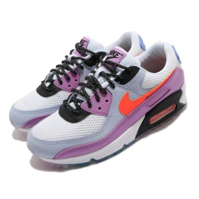 Nike 休閒鞋 Air Max 90 運動 女鞋 經典款 氣墊 避震 舒適 穿搭 球鞋 白 紫 CW6029100