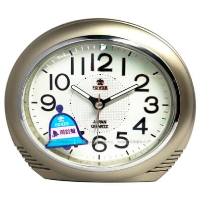 POWER霸王鐘錶-金屬感設計鬧鐘-典雅金-PA636G-13CM