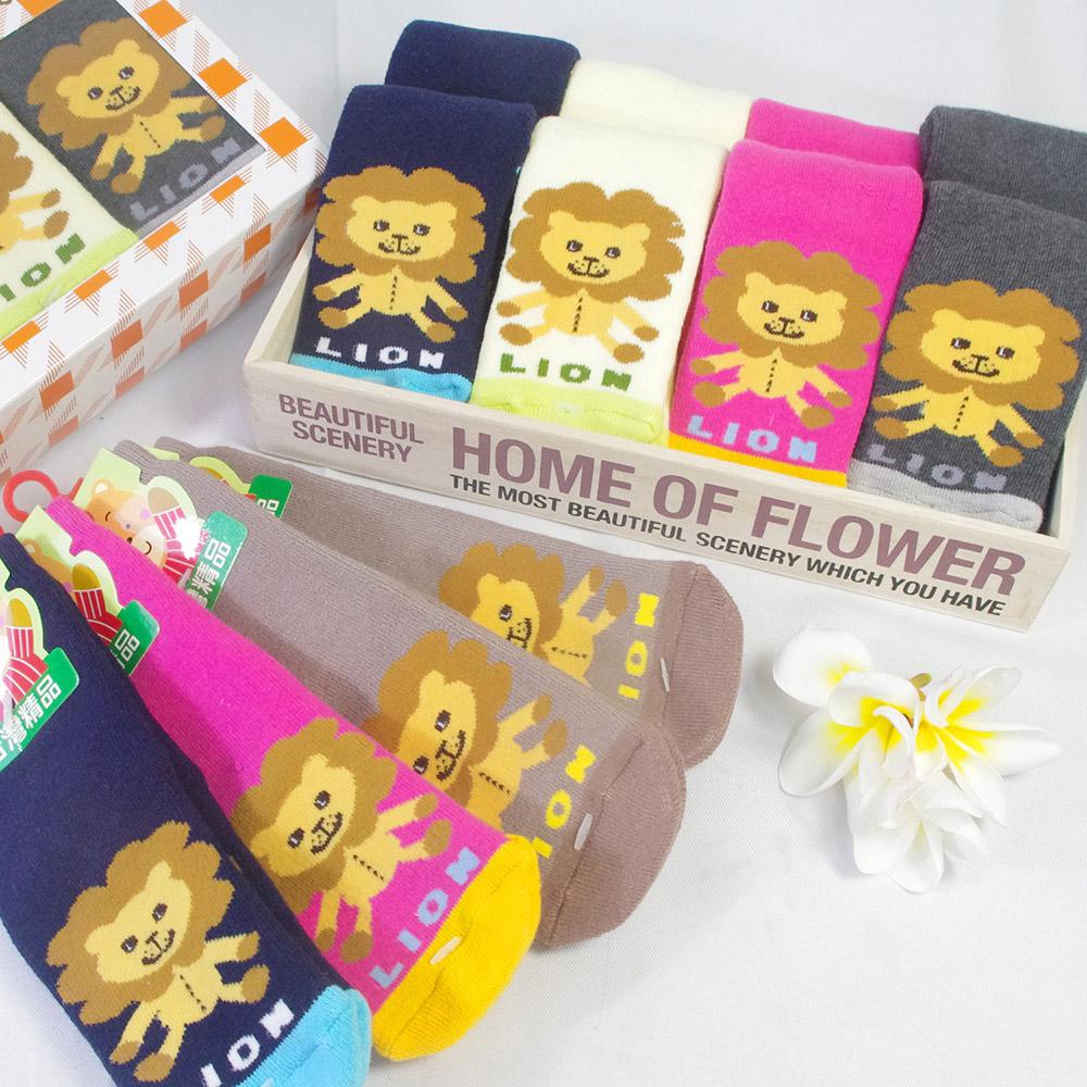 MIT  ZOO俏皮獅親子襪禮盒(12雙)