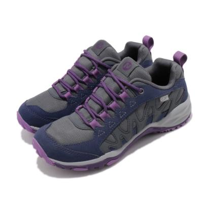Merrell 戶外鞋  Lulea Waterproof 女鞋 登山 越野 防水 耐磨抓地 透氣 灰 藍 ML99614