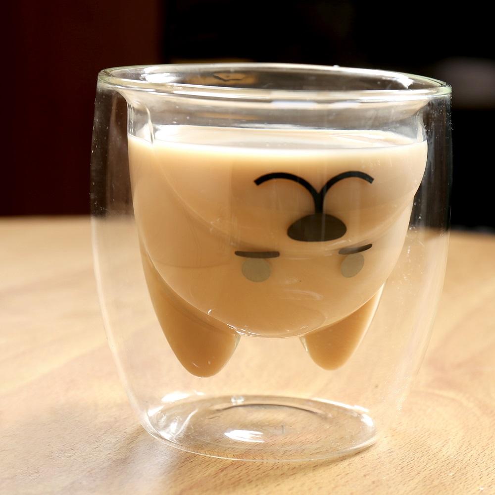 [2入]FUSHIMA富島 雙層耐熱玻璃杯旺福款200ml