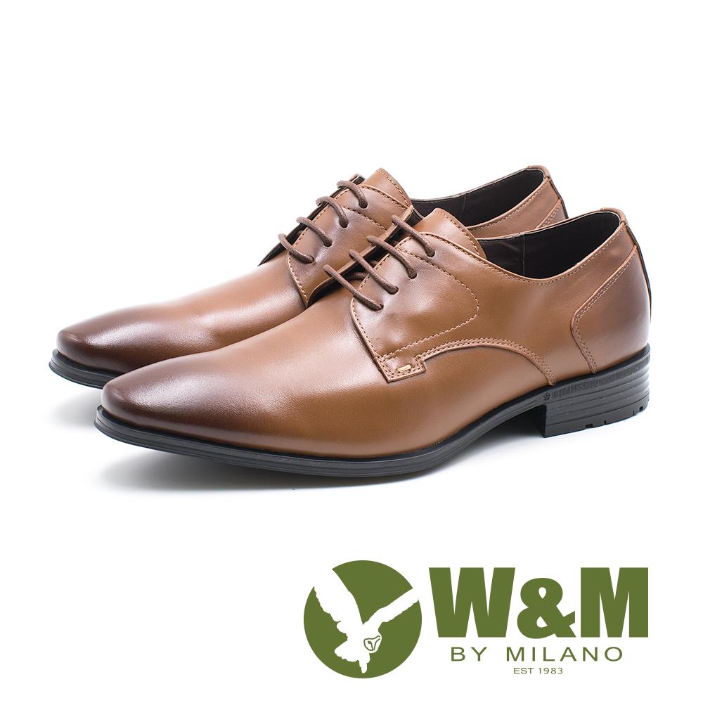 W&M 真皮素面繫帶德比鞋 男鞋 - 棕 (另有黑)
