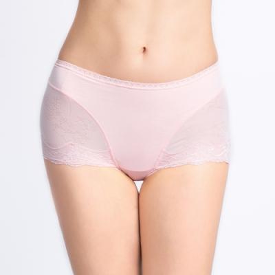 黛安芬-逆齡收腹勻體高腰褲系列 高腰平口內褲 M-EL 淺粉色