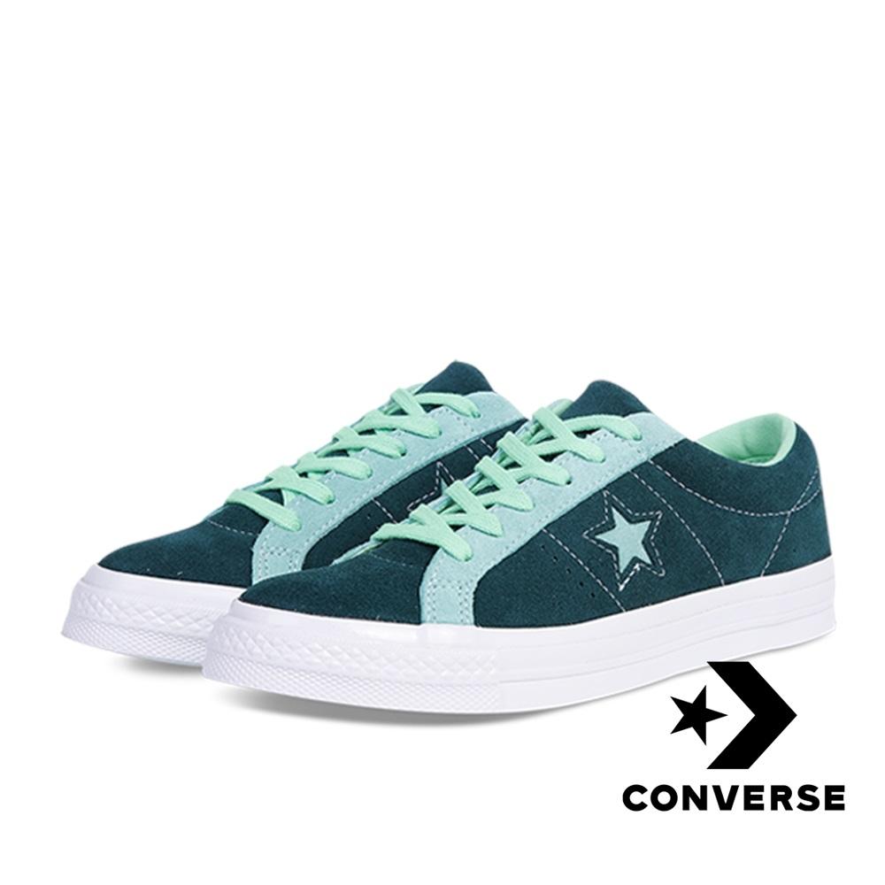CONVERSE-ONE STAR OX男女休閒鞋-綠