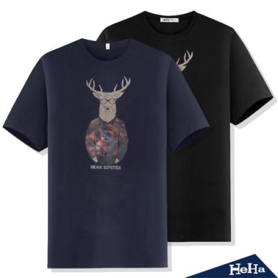 鹿先生的時尚哲學潮流短袖T恤 二色-HeHa