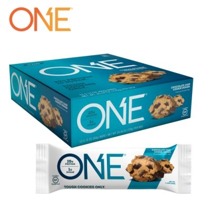 【美國 ONE Brands】ONE Bar 牛奶乳清蛋白棒 Chocolate Chip Cookie(巧克力脆片餅乾/12x60g/盒)