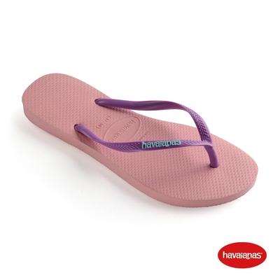 Havaianas哈瓦仕 拖鞋 夾腳拖 人字拖 巴西 女鞋 紫紅色 4119787-5217W Slim Logo Pop Up 跳色 Logo