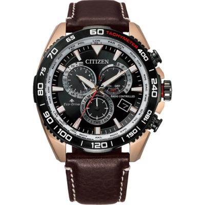 CITIZEN 星辰 光動能萬年曆電波計時手錶(CB5038-14E)