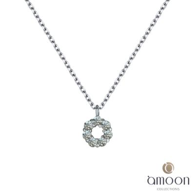 amoon 韓情脈脈系列 典雅 K金鑽石項鍊