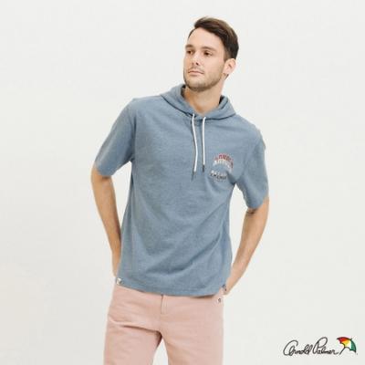 Arnold Palmer-男裝-棉質連帽運動T恤-淺藍