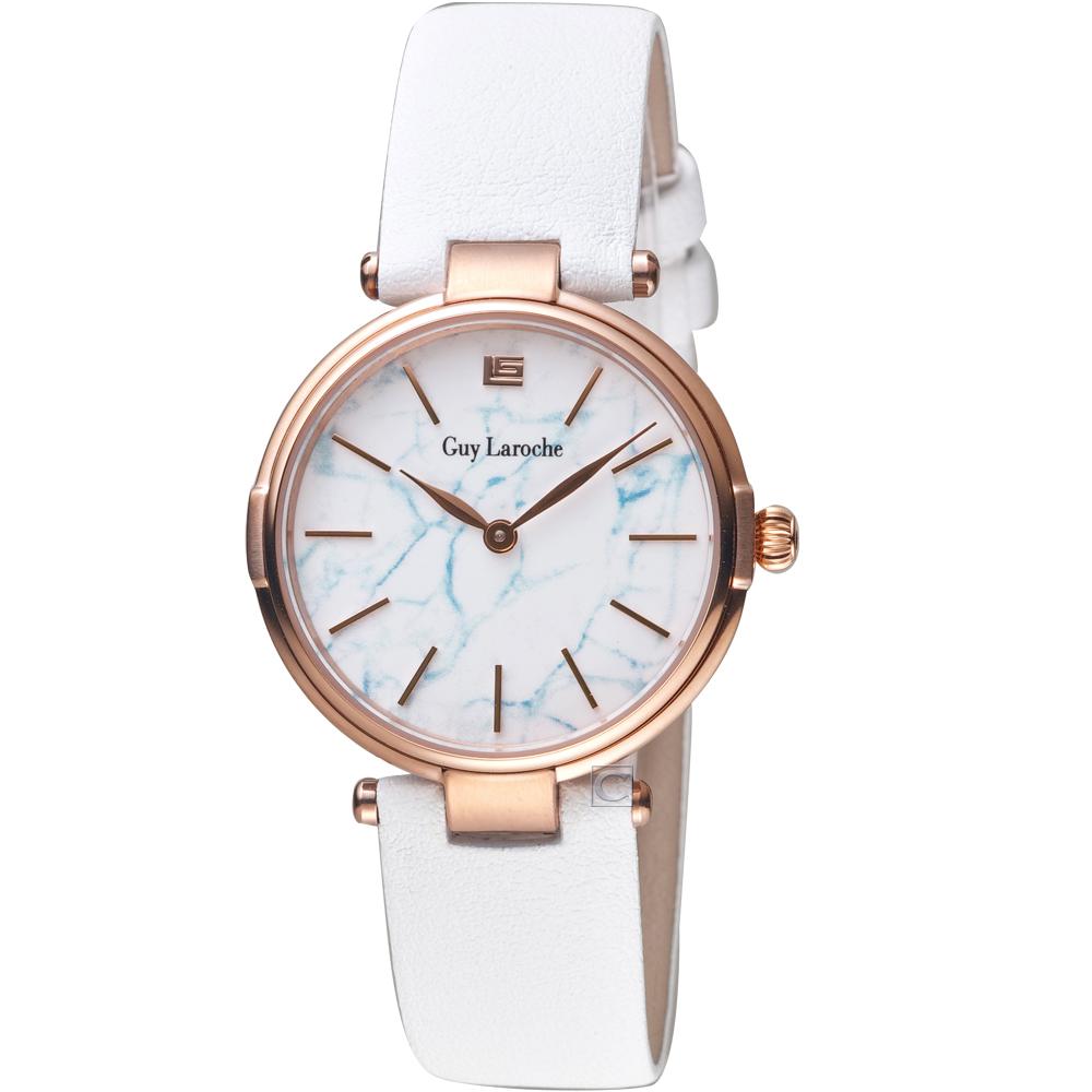 姬龍雪Guy Laroche Timepieces大理石紋理時尚錶(LW1025B-05)