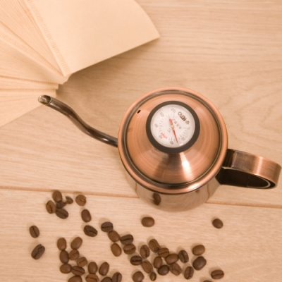 HERO 古銅金細口壺0.5L+濾紙+溫度計