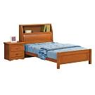 柏蒂家居-米堤3.5尺實木單人房間組-三件組(床頭箱+床底+床頭櫃)