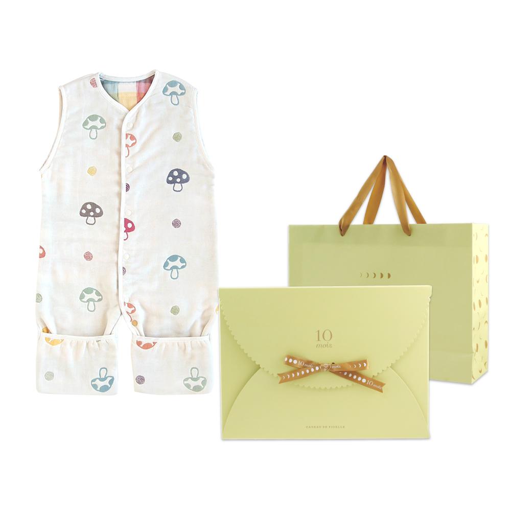 Hoppetta 蘑菇六層紗成長型睡褲(禮盒包裝)