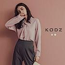 東京著衣-KODZ 職場女神造型單領結質感襯衫-S.M.L(共二色)